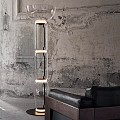 Noctambule 3 High Cylinders Bowl Big Base Floor Lamp