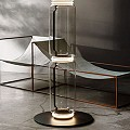 Noctambule 2 High Cylinders Small Base Floor Lamp