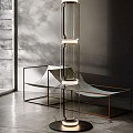 Noctambule 3 Low Cylinders Small Base Floor Lamp