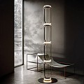 Noctambule 4 High Cylinders Big Base Floor Lamp
