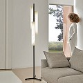 Black Note Triplet Floor Lamp - Black Nickel
