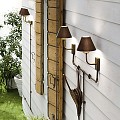 Fiordo Double Outdoor Wall Lamp
