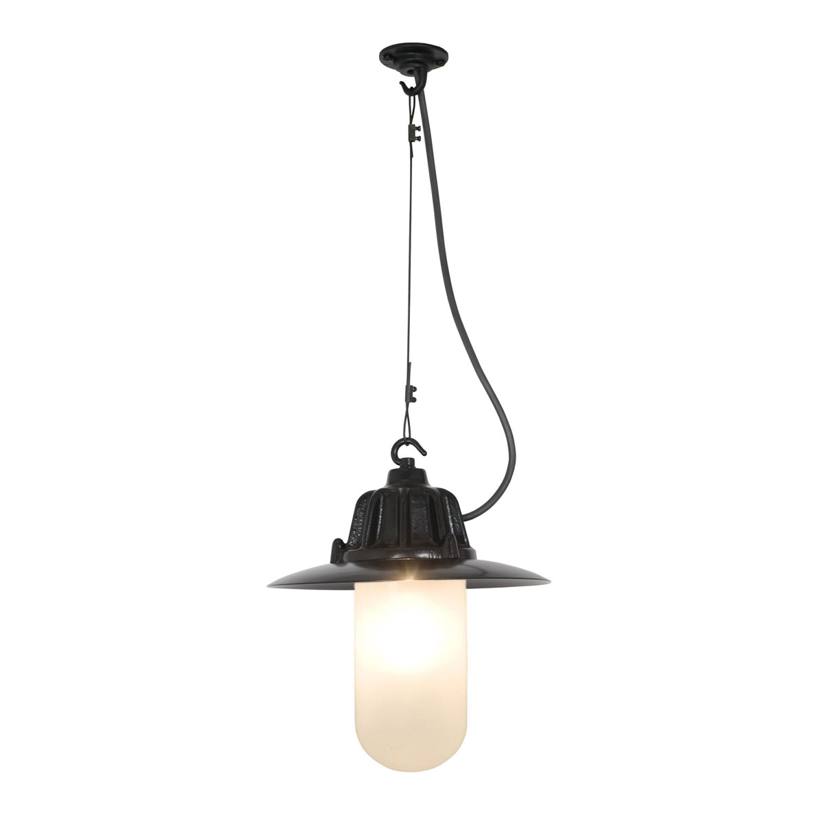 7675 Dockside Pendant With Frosted Glass