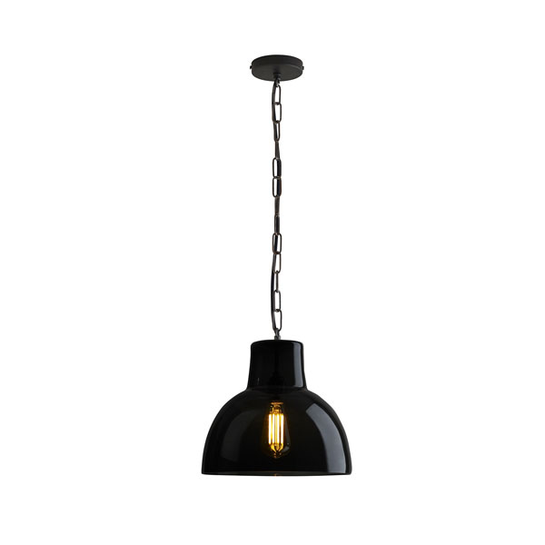 Glass York Large Pendant With Anthracite Glass