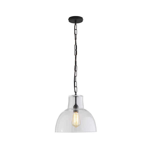 Glass York Large Pendant With Clear Glass