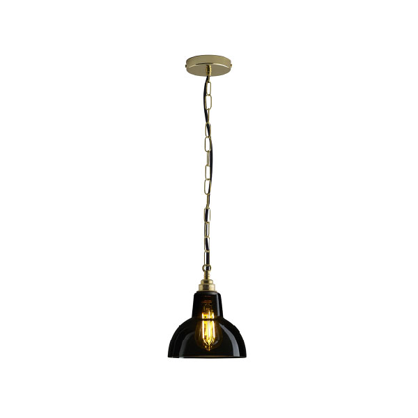 Glass York Small Pendant With Anthracite Glass