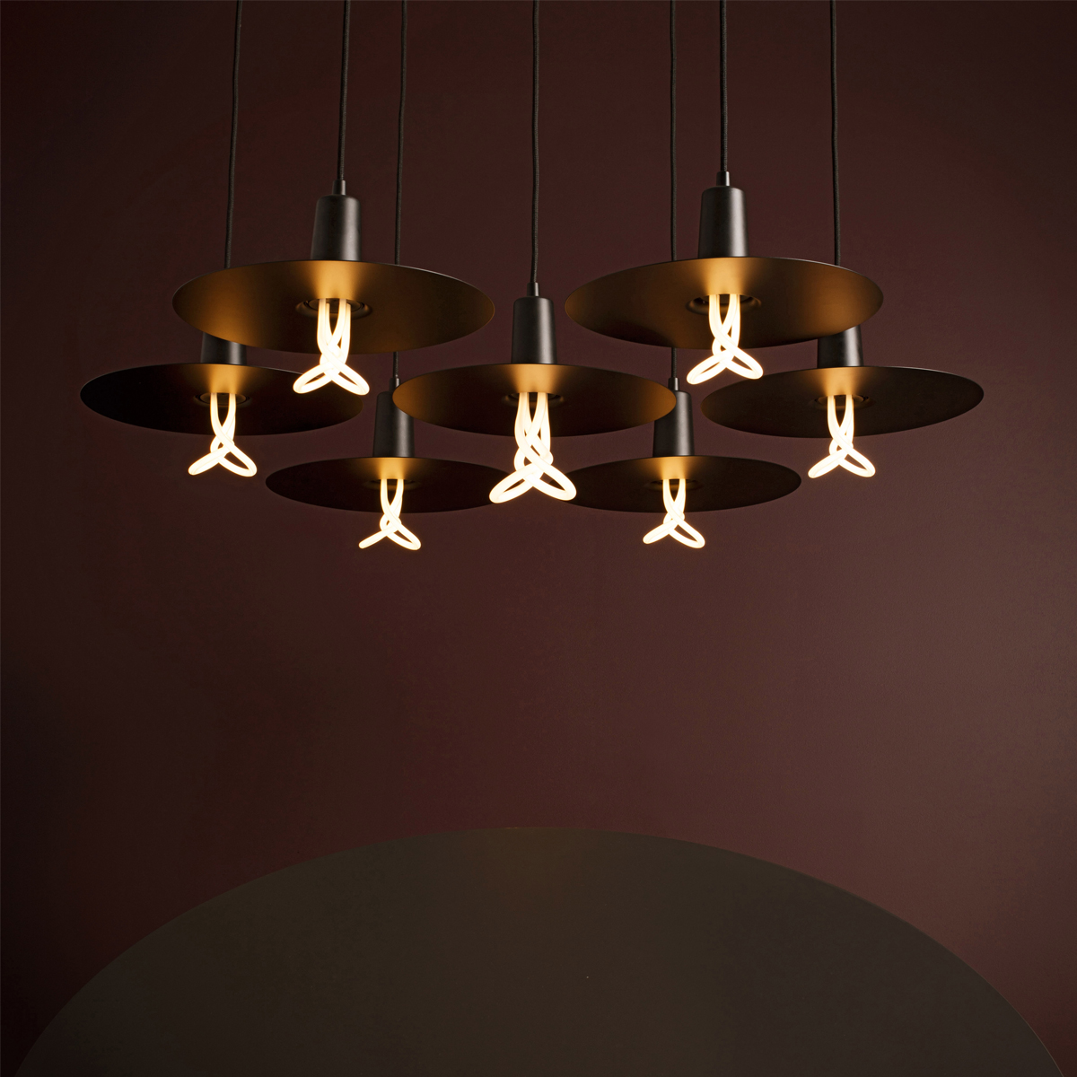 Drop Hat Shades Suspension Lamp C01