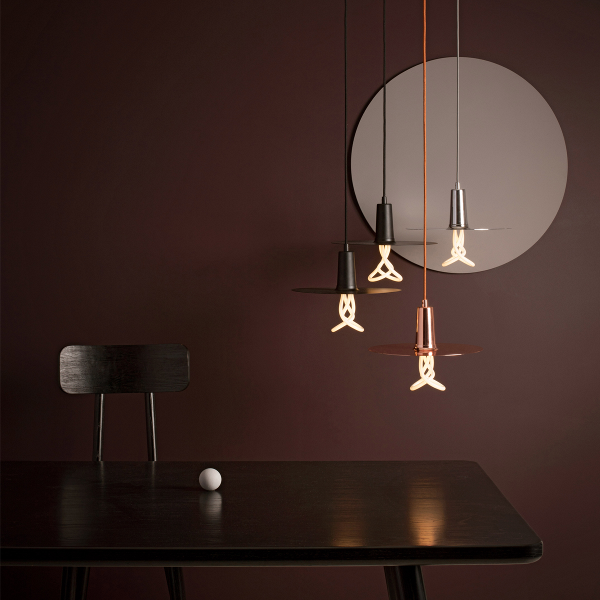 Drop Hat Shades Suspension Lamp