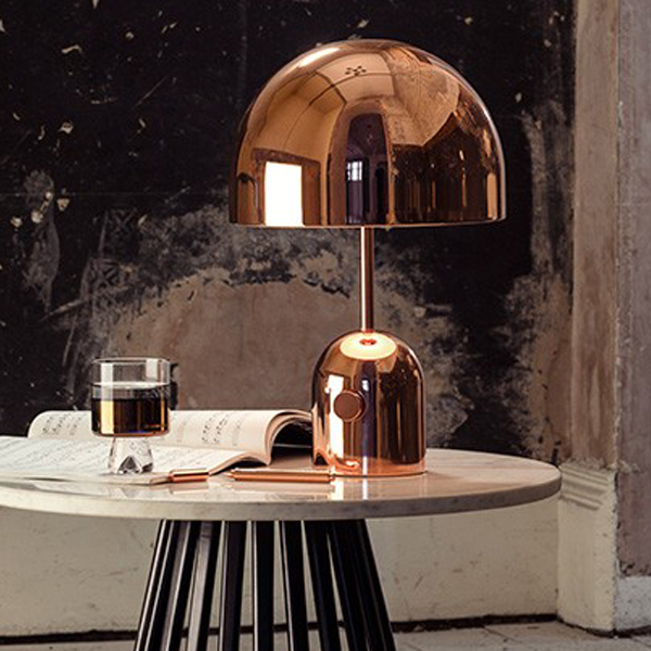 Bell Copper Table Lamp
