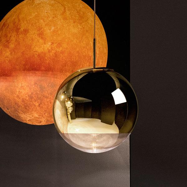 Mirror Ball Gold 40 Pendant