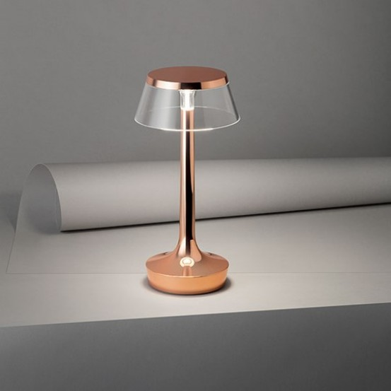 Bon Jour Unplugged Table Lamp - Copper