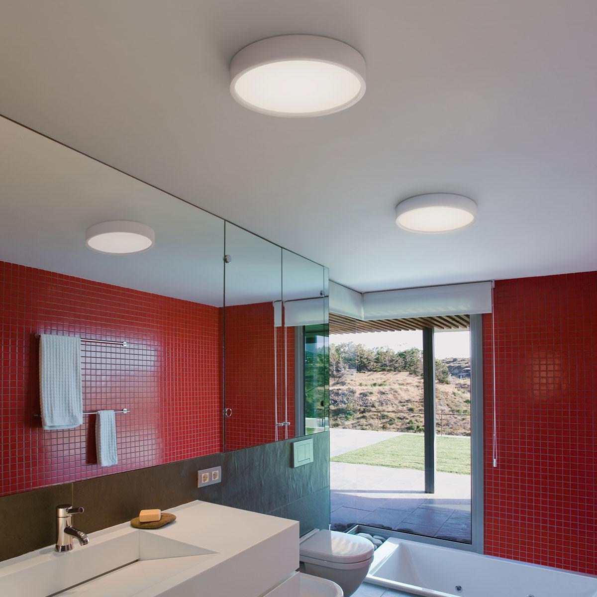Plus 0635 Semi Recessed Ceiling Lamp