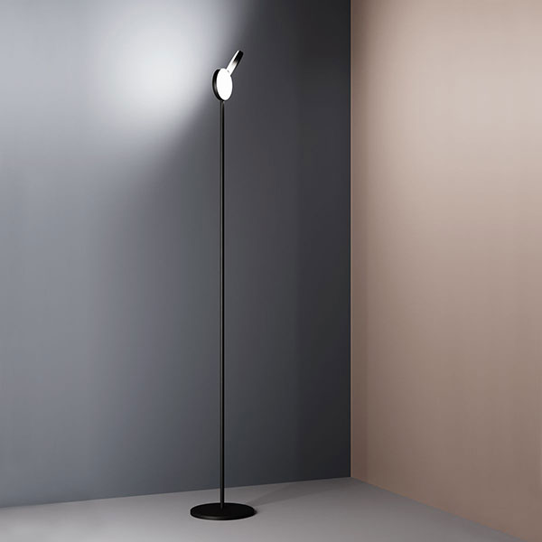 White Optunia Floor Lamp Led With
