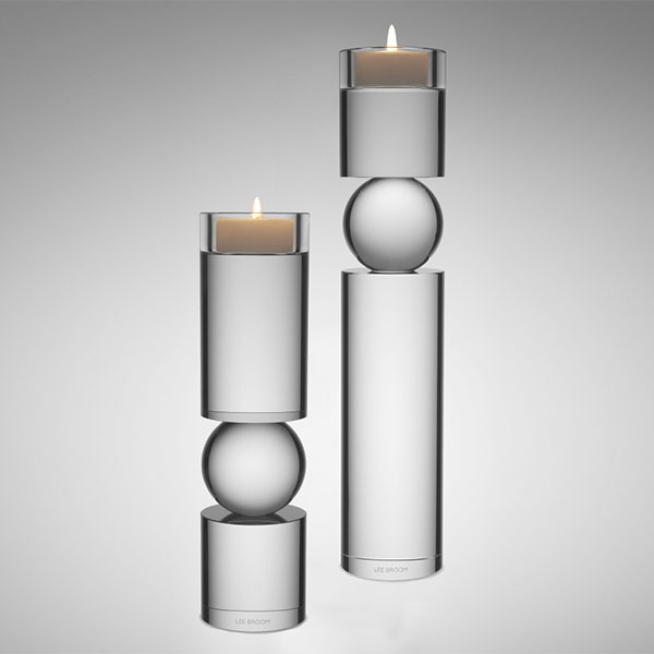Fulcrum Candlestick Clear Small