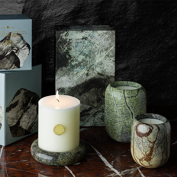 Materialism Stone Candle Large