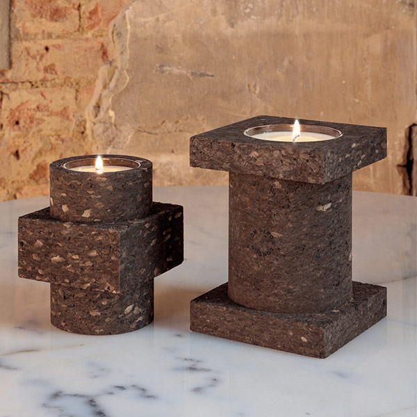 Materialism Cork Candle Large