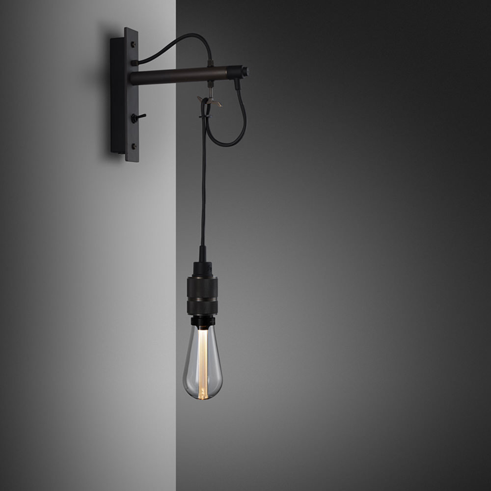 Hooked Nude - Graphite & Smoked Bronze Wall Lamp