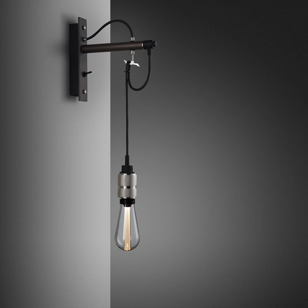 Hooked Nude - Graphite & Steel Wall Lamp