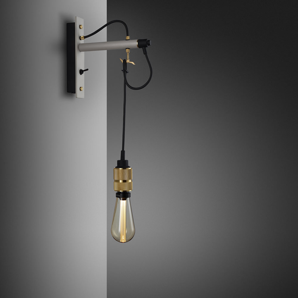 Hooked Nude - Stone & Brass Wall Lamp