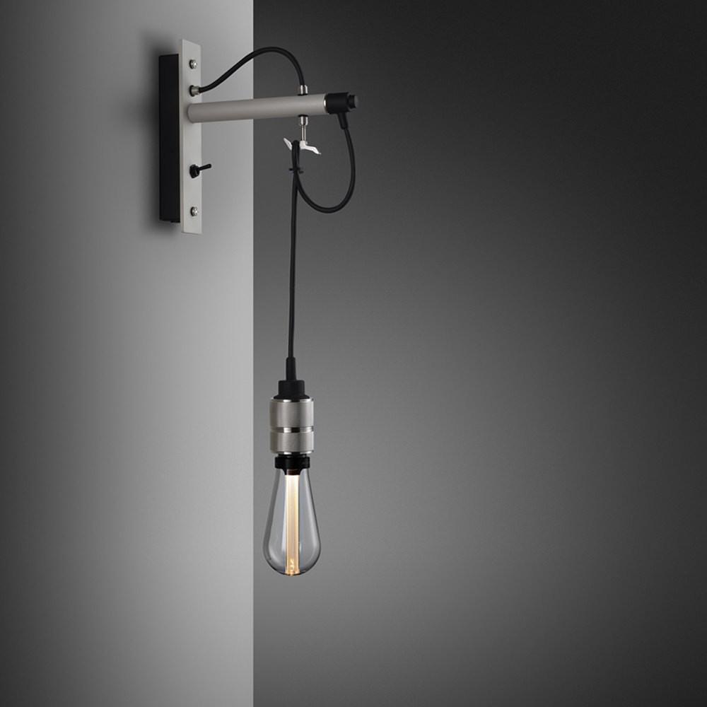Hooked Nude - Stone & Steel Wall Lamp