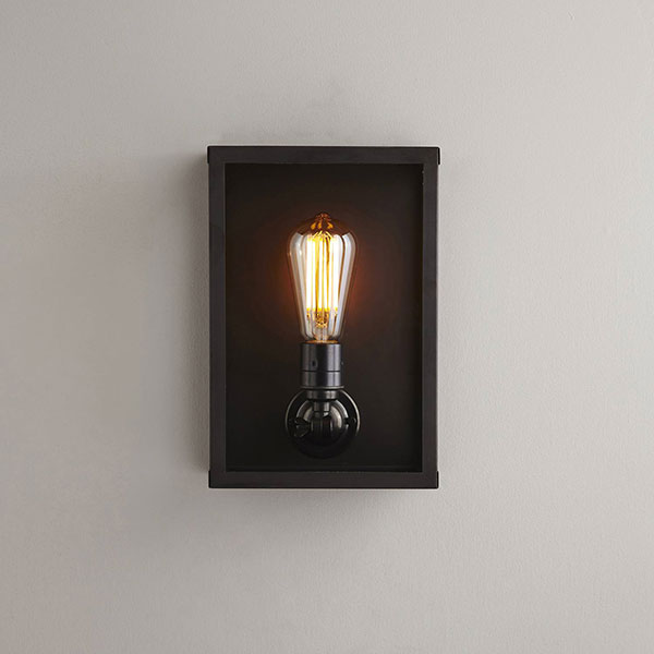 Box Wall Lamp With Clear Glass