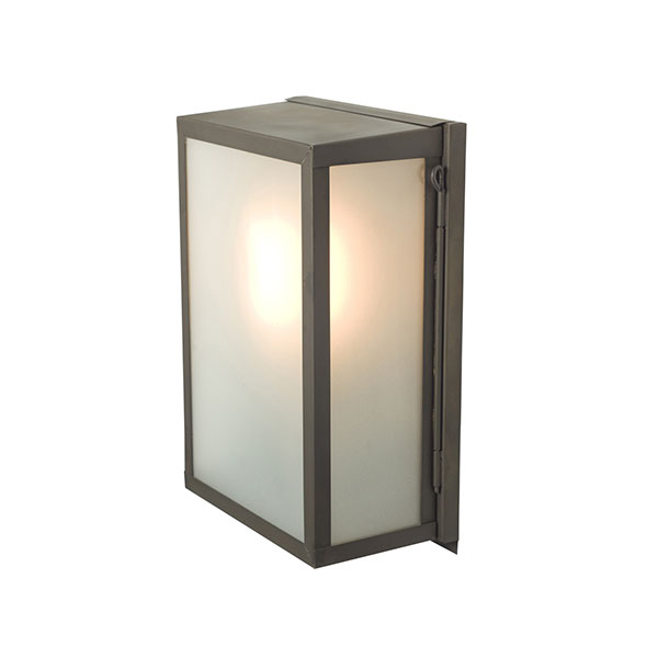 Box Wall Lamp With Frosted Glass