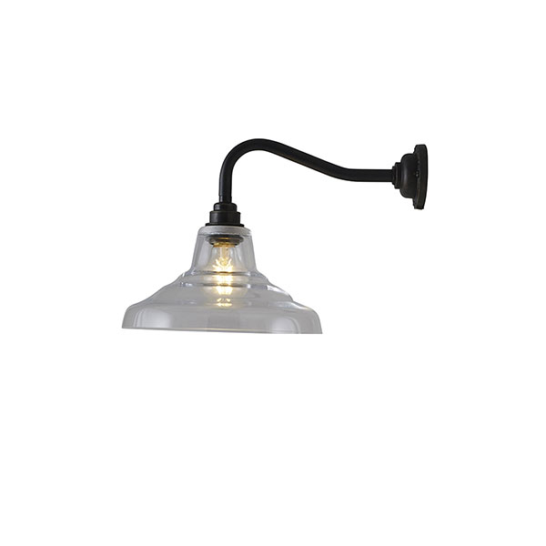Glass School Wall Lamp With Clear Glass