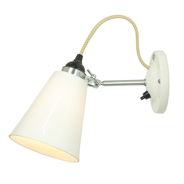 Hector Medium Flowerpot Switched Wall Lamp