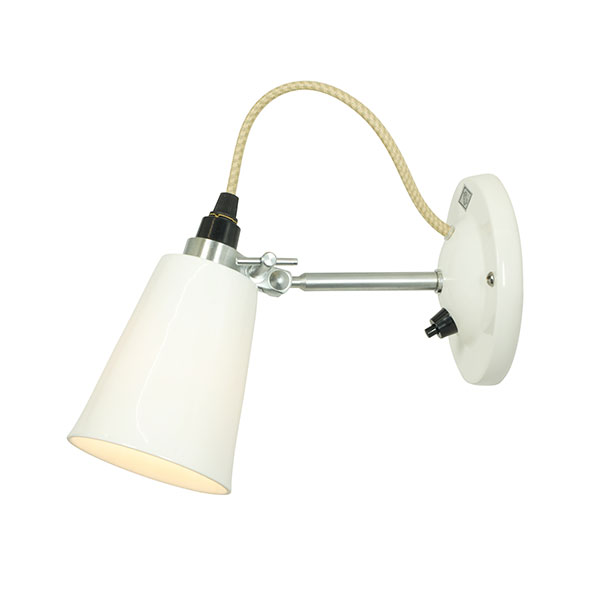 Hector Small Flowerpot Switched Wall Lamp