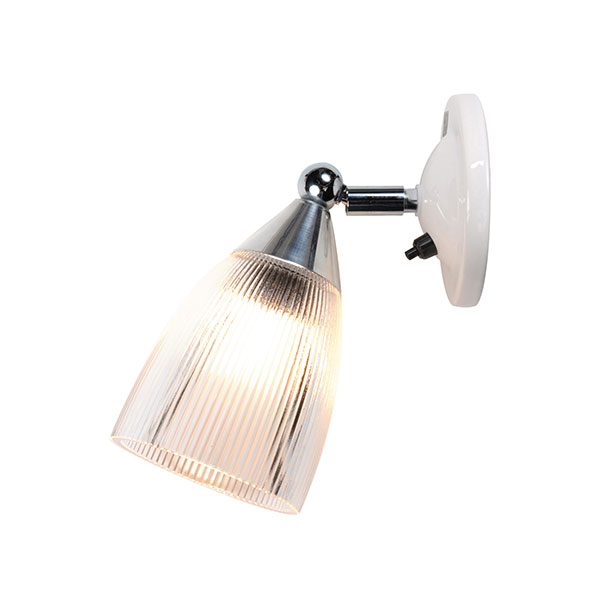 Mann Prismatic Switched Wall Lamp