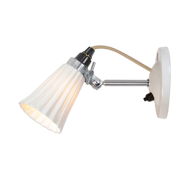Hector Small Pleat Wall Switched Lamp