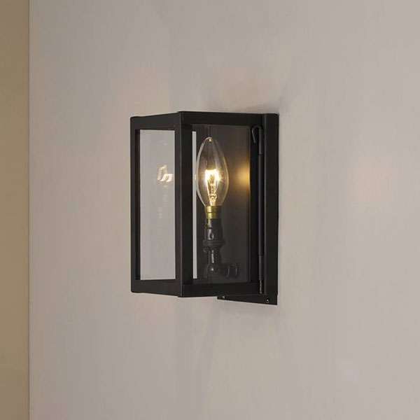 Miniature Box Wall Lamp With Clear Glass
