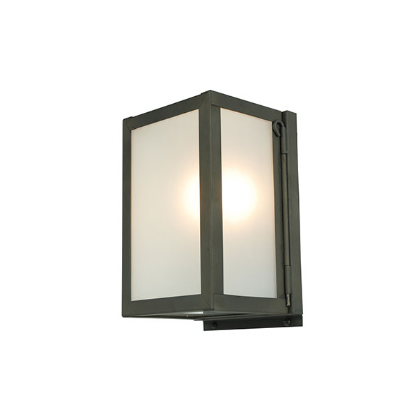 Miniature Box Wall Lamp With Frosted Glass