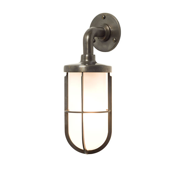 Weatherproof Ship's Well Lamp With Frosted Glass