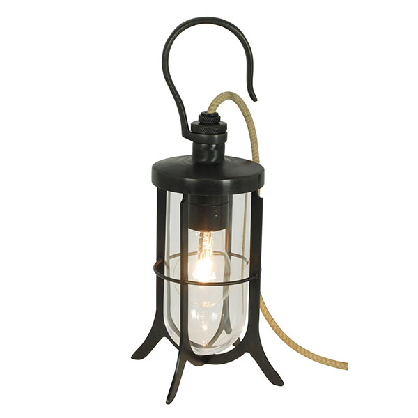 Ship's Hook Lamp With Clear Glass
