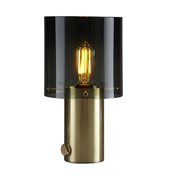 Walter Table Lamp - Size 2 With Anthracite Glass