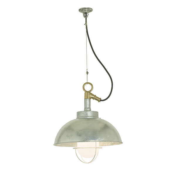 7222 Shipyard Pendant With Frosted Glass