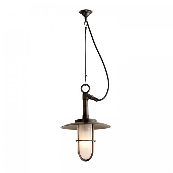 7523 Ship's Well Glass Pendant With Frosted Glass