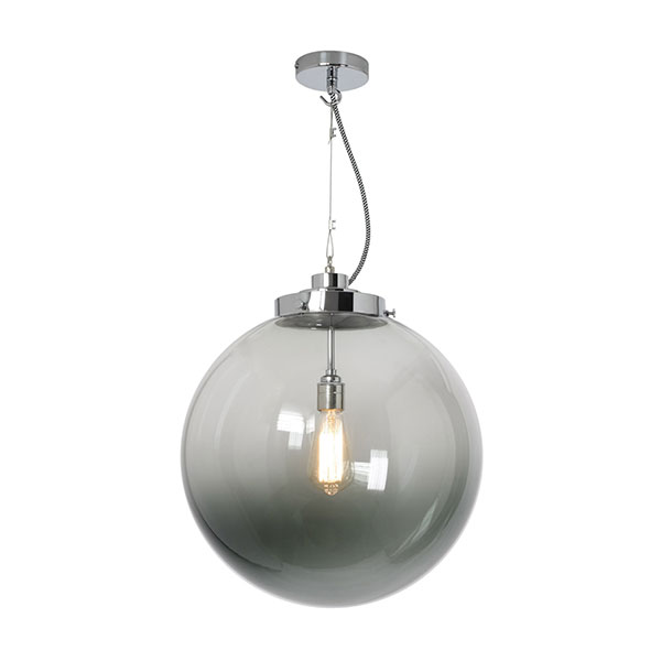 Globe Large Pendant With Anthracite Glass