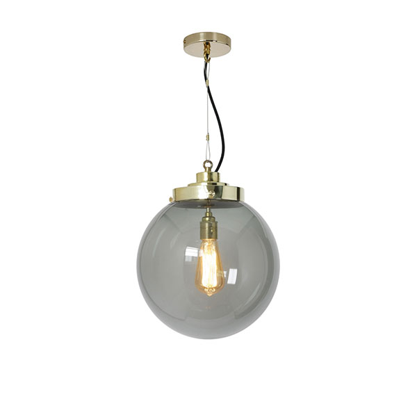 Globe Medium Pendant With Anthracite Glass