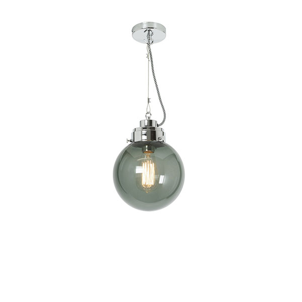 Globe Small Pendant With Anthracite Glass