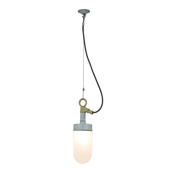 Well Glass Pendant With Frosted Glass