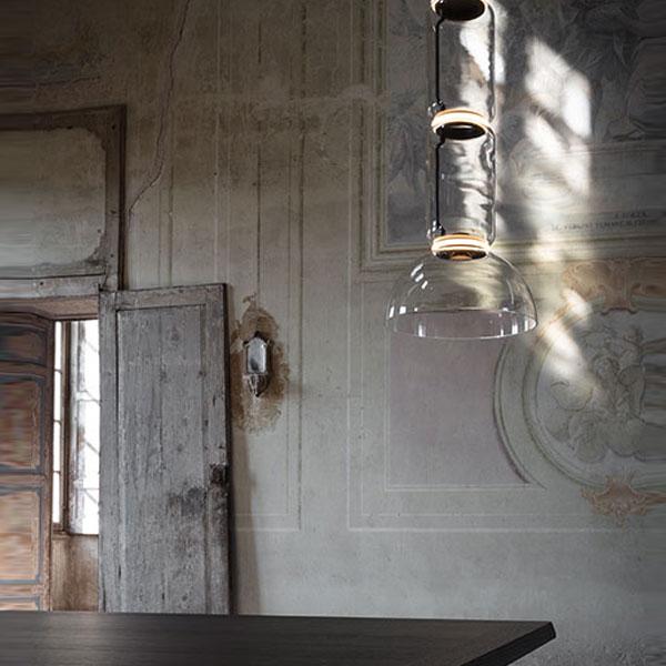 Noctambule 4 Low Cylinder and Bowl Suspension Lamp