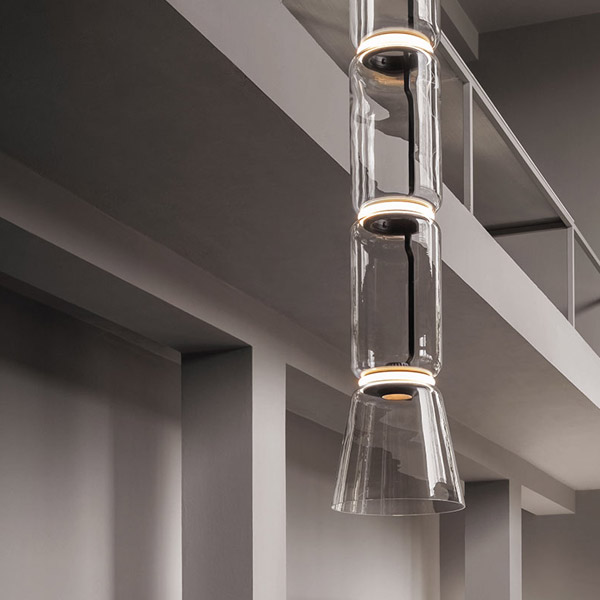 Noctambule 4 Low Cylinder and Cone Suspension Lamp