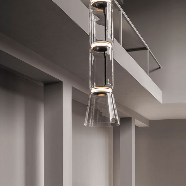 Noctambule 2 Low Cylinder and Cone Suspension Lamp