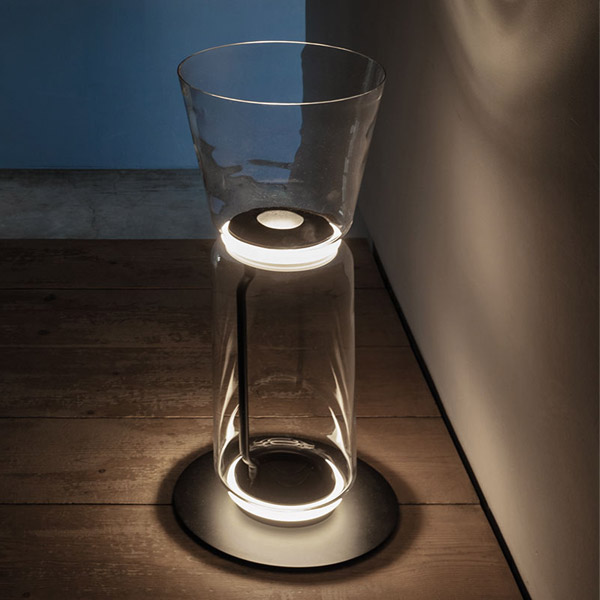 Noctambule 1 High Cylinders Cone Small Base Floor Lamp