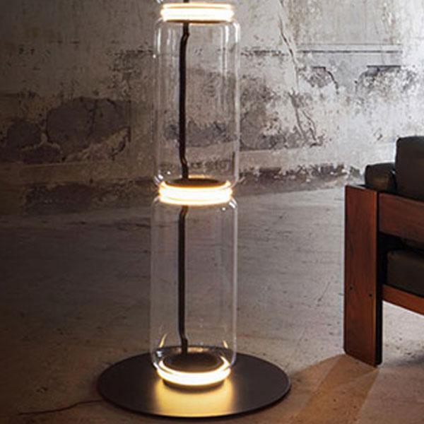 Noctambule 2 Low Cylinders Small Base Floor Lamp