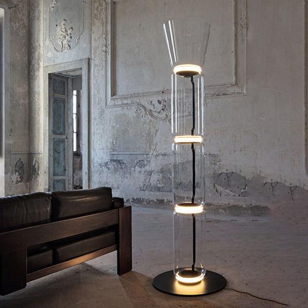 Noctambule 3 High Cylinders Cone Big Base Floor Lamp