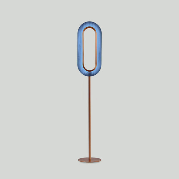 Lens Oval Floor Lamp - Copper
