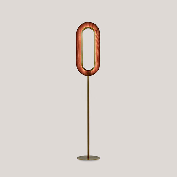 Lens Oval Floor Lamp - Gold